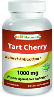 Best Naturals Tart Cherry Extract 1000 mg (Non-GMO) Veggie Capsules - Promotes Healthy Uric Acid Levels Within Normal Range, Healthy Joint Function & Promotes Healthy Sleep Cycle, 120 Count