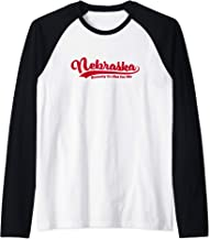 Nebraska Honestly It's Not For Me Script Vintage Distressed Raglan Baseball Tee
