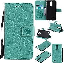 XYX Wallet Case for LG K20 V,[Sun Flower] Premium Flip PU Leather Magnetic Closure TPU Bumper Slim Fit Cover for LG K20 V/LG K10 2017/LG K20 Plus/LG LV5, Green