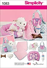 Simplicity 1083 Children's Toy Dog Stuffed Animal and Accessories Sewing Pattern, One Size Only
