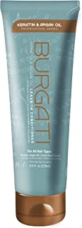 BURGATI Leave-In Conditioner with Argan Oil, Keratin & Carrot Root Extract - For Detangling, Smoothing, Moisturizing & Frizz Control - Good For Damaged Hair - Sulfate Free - Color Safe - 8 Fl Oz