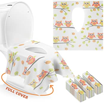 50pcsUniversal Toilet Disposable Sticker Toilet Seat Cover Business Travel Stool