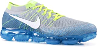 Men's Air Vapormax Flyknit Wolf Grey/White/Chlorine Blue Knit Running Shoes 8 D(M) US