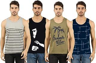 THE ARCHER Men's Regular Fit Vest T-Shirt (Pack of 4)
