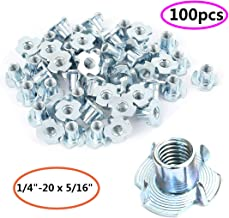 Lot of 10 Each Sliding Tee T Nuts with 1//4 20 Threads for Jigs and T Track STN-1//4