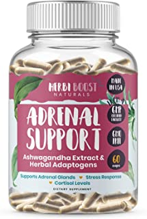 Adrenal Support Supplements & Cortisol Manager ǀ 1300mg ǀ 100% Pure Anxiety, Stress Relief Energy Pills for Adrenal & Thyr...