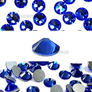 SAPPHIRE (206) blue Swarovski NEW 2088 XIRIUS Rose 20ss 5mm flatback No-Hotfix rhinestones ss20 144 pcs (1 gross) *FREE Shipping from Mychobos (Crystal-Wholesale)*