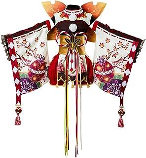 COSTHAT Love Live!Aqours Kanan Matsuura Autumn Viewing Cosplay Costume Kimono Dress Suit