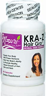 Vitamins for Hair Fast Hair Growth Long Healthy Hair Pills Nzuri Kra-z Hair Gro About Hair