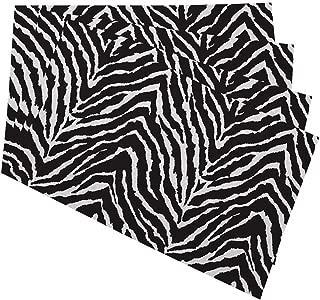 Mugod Zebra Placemats Black and White Zebra Seamless Pattern Print Decorative Heat Resistant Non-Slip Washable Place Mats for Kitchen Table Mats Set of 4 12