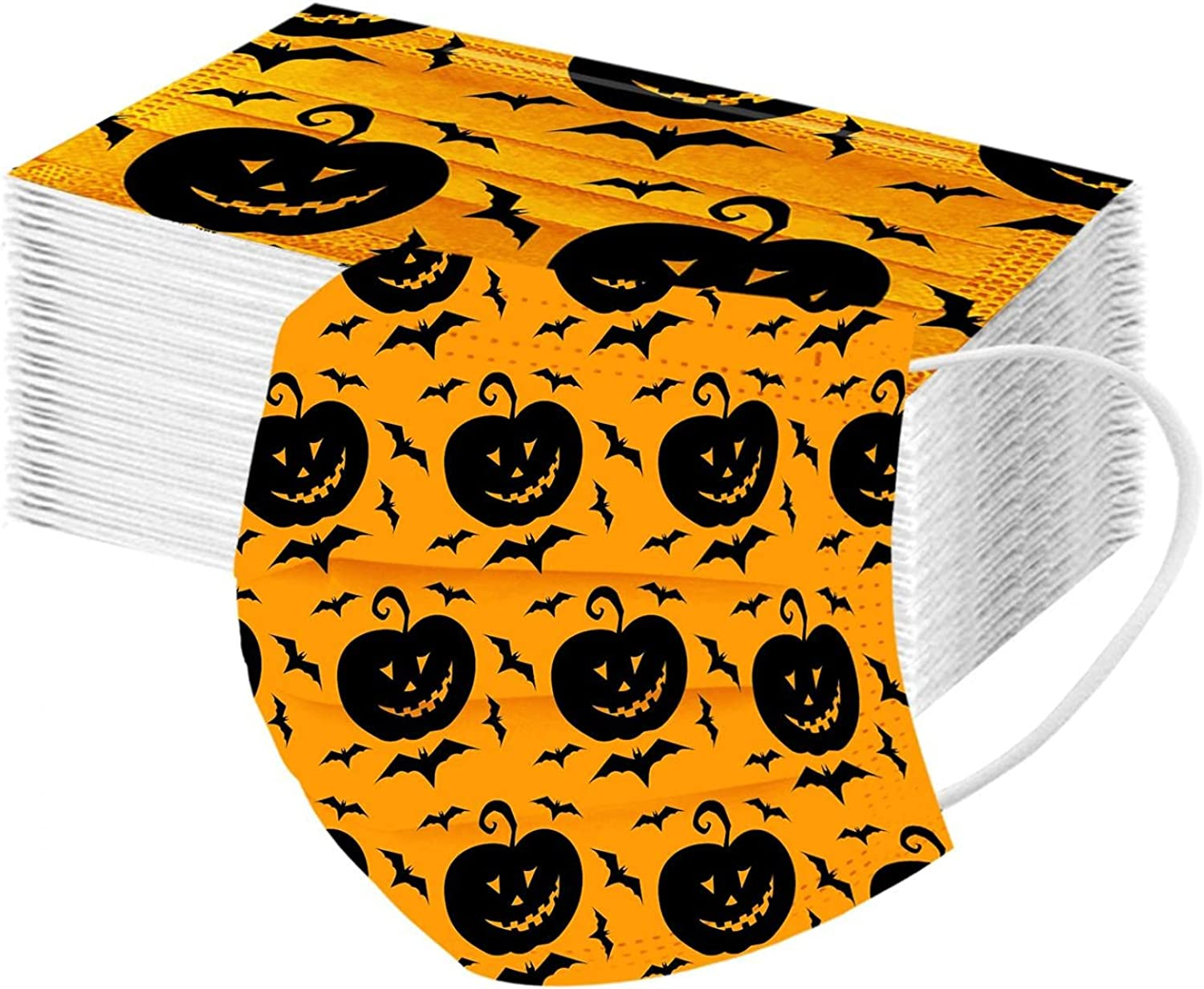 Halloween Face_Masks We OFFer at cheap prices Skull Disposable_F Patterned Bat High order