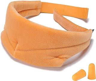 Natural Silkworm Sleep Eye mask,Travel Eye mask,Breathable Eye Protection,Adjustable 3D Sleep Eye mask,Light and Comfortable,Super Soft,Suitable for Travel/Snoring/Sleep (Brown)