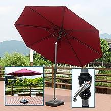LUXUS Ampelschirm Wasserdicht Sonnenschirm 3x3m mit Kurbel Freiarmschirm Garten