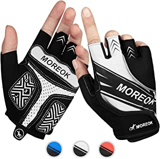 Achiou Half Finger Bicycle Cycling Gloves for Men and Women Padded Breathable Anti- Slip Shock-Absorbing Pad Road Bike Mountain Riding Motorcycle