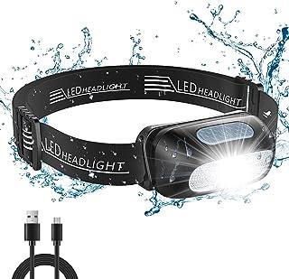 Cocoda Linterna Frontal, Frontal LED USB Recargables con 5 Modos de Luz, 200 Lúmenes, Impermeable IPX4 para Niños y Adulto...