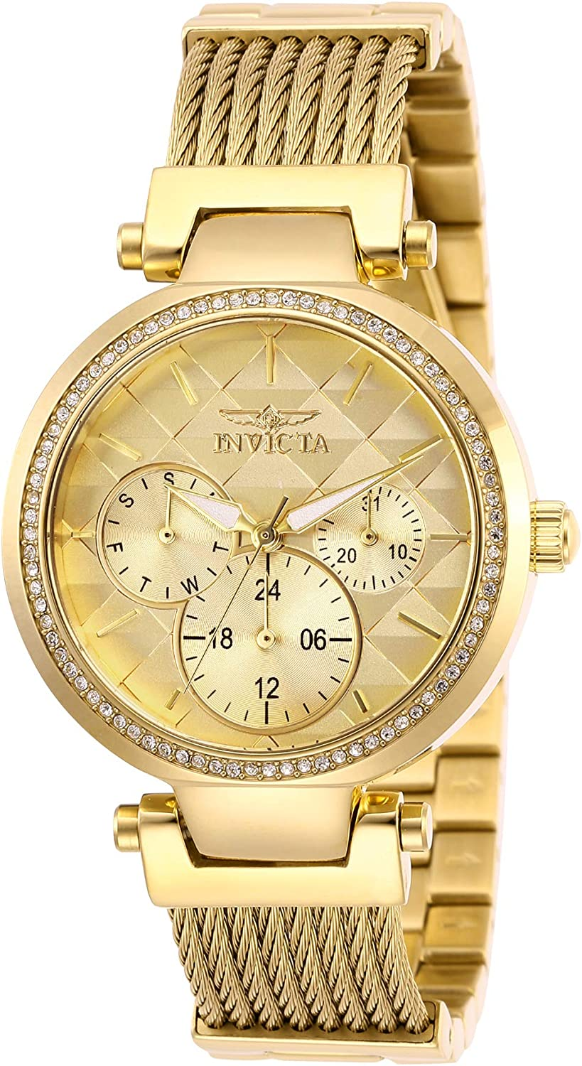 Invicta Limited Special Price Women's Angel Stainless Steel Stainless-Steel Str Max 43% OFF Quartz