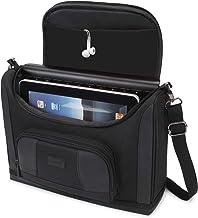 کیسه تبلت GEAR Messenger USA با سازگار با 11 اینچ iPad Pro و 10.5 اینچی iPad Air - کامپکت کامپکت با پوسته خارجی بادوام ، جداکننده داخلی نرم ، متناسب با صفحه کلید هوشمند ، مداد ، شارژر (سیاه)