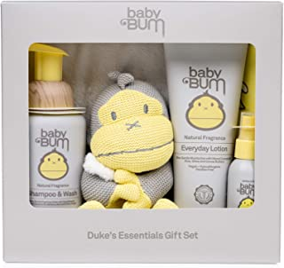 Baby Bum Duke's Essentials Gift Set - Shampoo and Wash - Everyday Lotion - Hand Sanitizer - Blanket