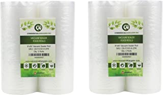 "Commercial Bargains 4 Large 8"" x 50' Vacuum Saver Rolls Commercial Grade Food Sealer Bags"