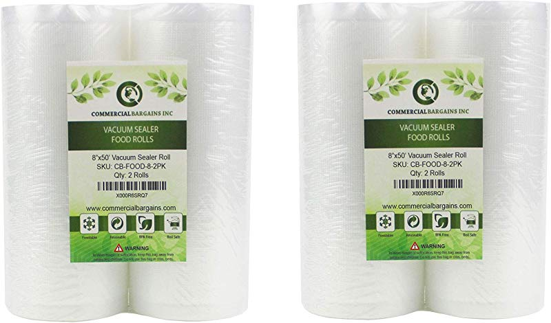 Commercial Bargains 4 Large 8 X 50 Vacuum Saver Rolls Commercial Grade Food Sealer Bags