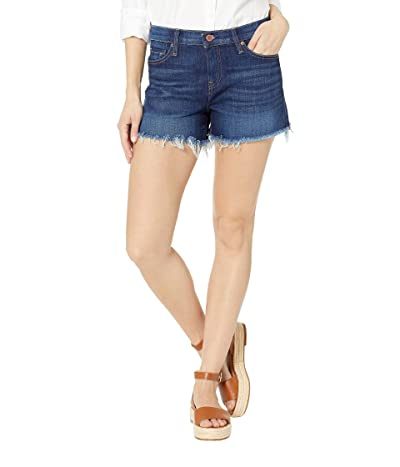 Hudson Jeans Gemma Mid-Rise Cut Off Jean Shorts in Nightfall (Nightfall) Women