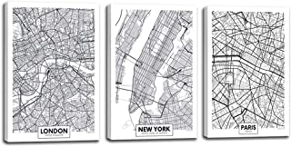 framed maps of cities