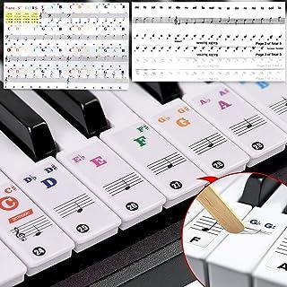ShengRuHai 2 Conjuntos Pegatinas para teclado o piano para teclado de 54/61/76/88,/36,Transparentes Etiquetas Engomadas Para Teclado de piano Perfecto para teclado piano o electrico piano etc.