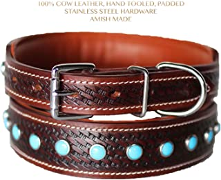 PRORIDER Small 13''- 17'' Rhinestone Dog Puppy Collar Crystal Cow Leather Western 6042