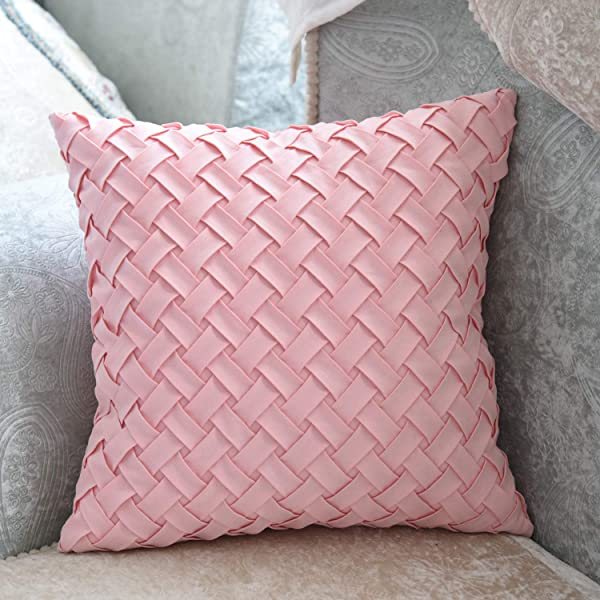 Decorative Pink Velvet Throw Pillow Covers Soft Faux 3D Pattern Fur Pillow Covers Squar Pillow Covers For Coach Bedroom Sofa 16in 16in