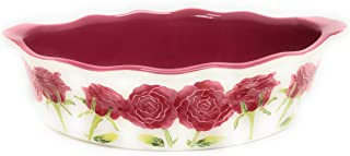 """Temp-tations 3 Qt Oval Baker, Pattern:""""Iced"""", Replacement, No Accessories (Rose)"""