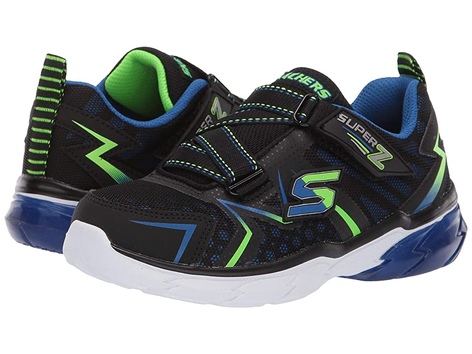 SKECHERS KIDS Thermoflux (Little Kid/Big Kid) (Black/Blue/Lime) Boy