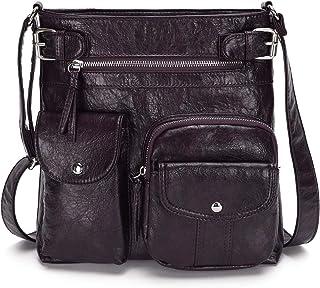 KL928 Damen Umhängetaschen Weiches Leder Henkeltaschen Handtasche Geldbörse Crossover Taschen für Mädchen oder Frauen (pur...