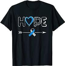 Hope Blue Ribbon Diabetes Type 1 Awareness Shirt Women Men