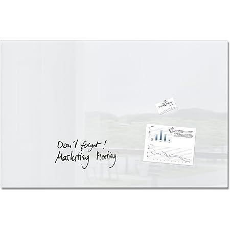 Sigel GL141 - Pizarra de cristal magnética, 100 x 65 cm, super blanco