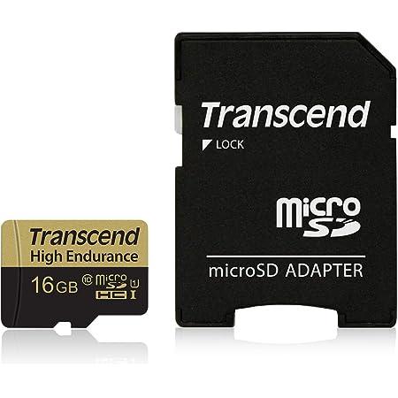 Transcend 高耐久 microSDHCカード MLCフラッシュ搭載 (ドライブレコーダー向けメモリ) 16GB Class10 TS16GUSDHC10V