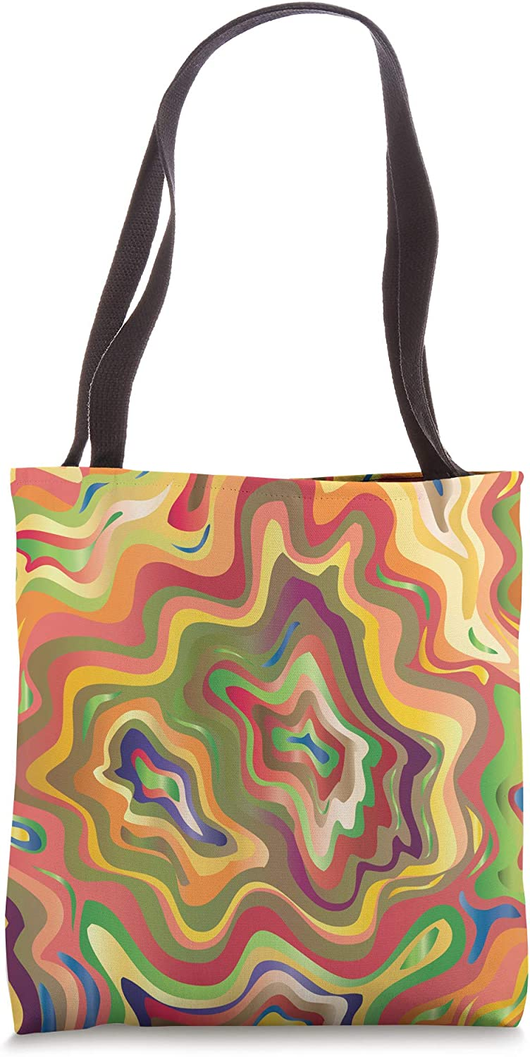 Colorful Abstract Aesthetic Art Tote Bag