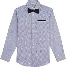 Kenneth Cole Boys' Long Sleeve Dress Shirt and Tie Set