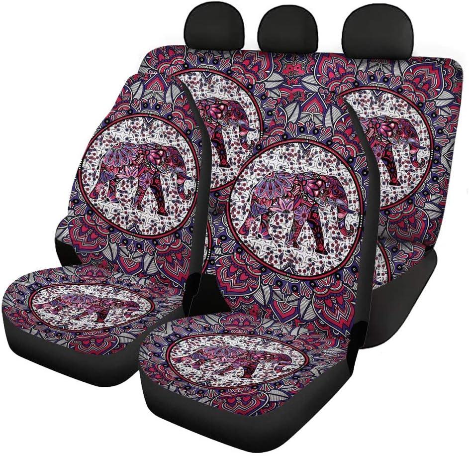 Selling FUIBENG Mandala Hippie Elephant Animal El Paso Mall Rear Auto B Print Front