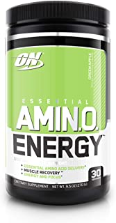 Optimum Nutrition Essential Amino Energy, Green Apple, Keto Friendly Preworkout And Essential Amino Acids, 30 Servings, 9....