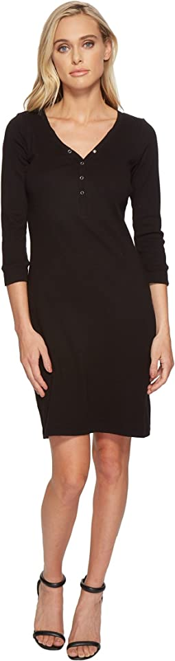 Three Dots - Heritage Knit Henley Dress