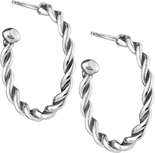 Sterling Silver Hoop Earrings - Treasures Collection