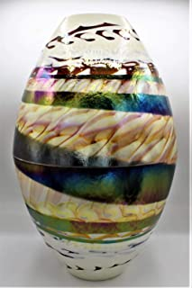 Le Gemme di Venezia jarrón yalos Kenya Ovalada Cristal de Murano Made in Italy