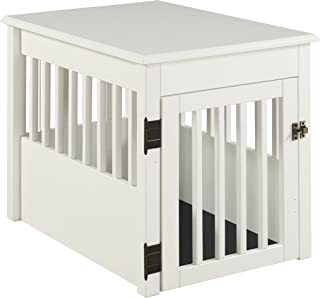 BarkWood Pet Crate End Table - White Finish