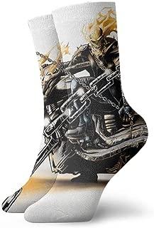 FriendEver Mens Dress Socks Pack Ghost Rider Funny Polyester Crew Socks