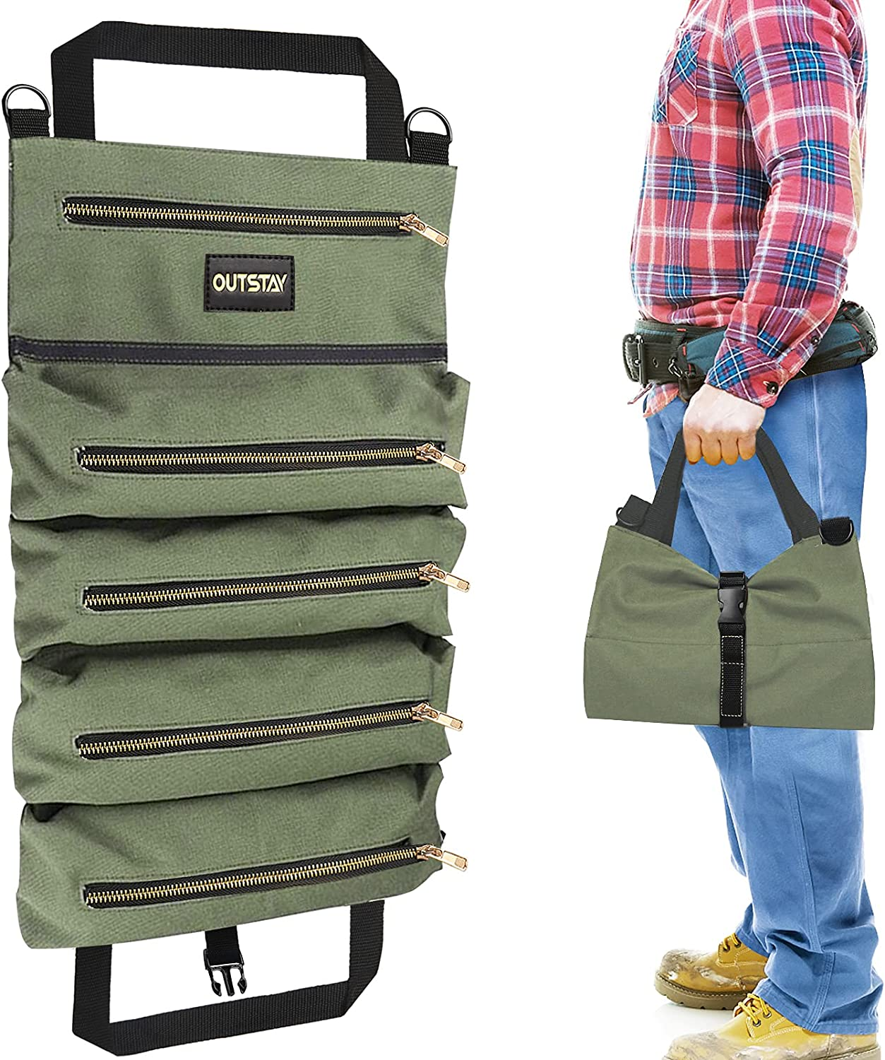 Canvas Roll Up Tools Bag Max 90% OFF Fashionable Storage Organizer Multi-Purpose Yuede