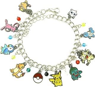 Athena Brand Anime Theme Pokemon Characters Charm Bracelet Quality Cosplay Jewelry Cartoon Manga Series with Gift Box