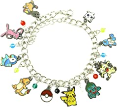 Athena Brand Anime Theme Pokemon Characters Charm Bracelet Quality Cosplay Jewelry Cartoon Manga Series with Gift Box