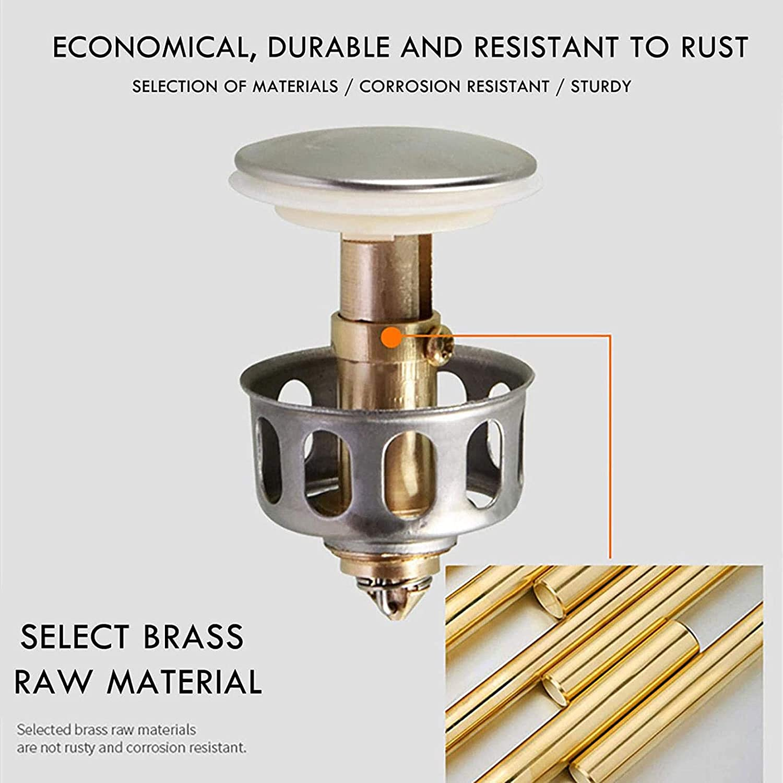 Universal Wash Basin Core Bounce Drain Filter Up Bathroom Sink Plug 20 21