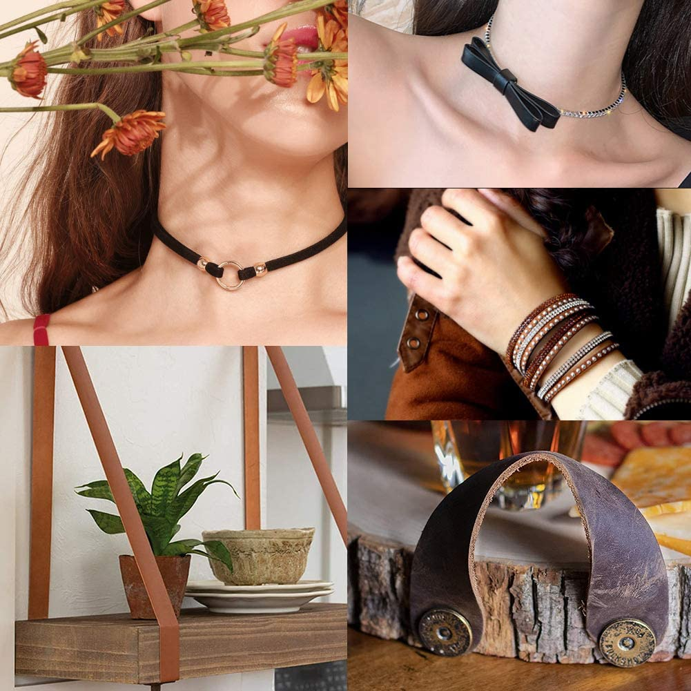 Coffee GORGECRAFT Leather Strap 3//4 Inch Wide 78 Inches Long Micro Fiber Imitation Flat Braided Leather Cord for Crafts Tooling Workshop Handmade
