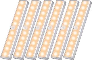 Gluckluz Motion Sensor Light for Bathroom Hallway Stairway, 10 LED Bulbs Wireless Closet Night lights Portable Magnetic Se...